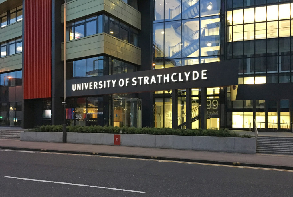University of Strathclyde High Level Signage