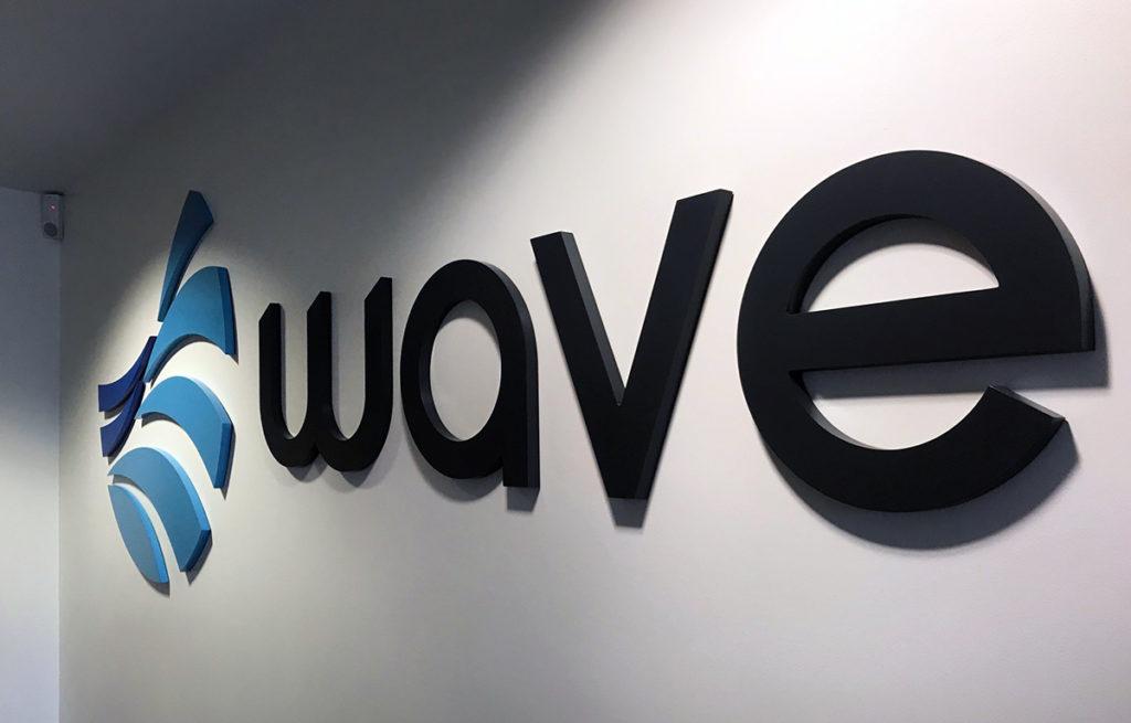 Wave signage